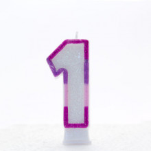 Pink Numeral 1 Candle CN1021