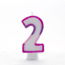 Pink Numeral 2 Candle CN1022