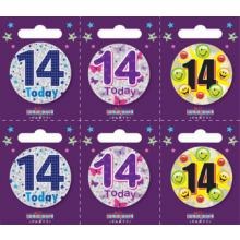 Age 14 Unisex 55mm Small Badges