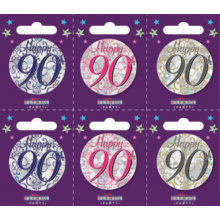 Age 90 Unisex 55mm Small Badges