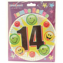 Age 14 Unisex 150mm Large Badge