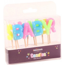 Baby Shower Candles Multi