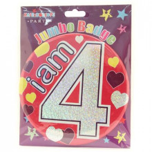 Age 4 Girl 150mm Large Badge