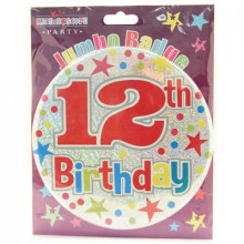 Age 12 Unisex 150mm Large Badge