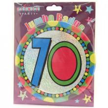Age 70 Unisex 150mm Large Badge