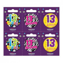 Age 13 Unisex 55mm Small Badges