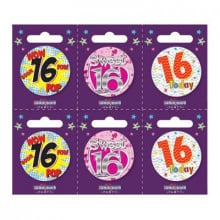 Age 16 Unisex 55mm Small Badges