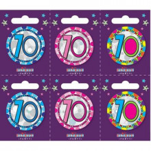 Age 70 Unisex 55mm Small Badges