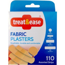 Fabric Plasters 110 Assorted Strips