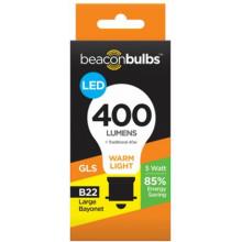 5W LED Light Bulb GLS B22 Bayonet
