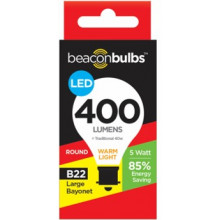 LED Light Bulb Round B22 Bayonet