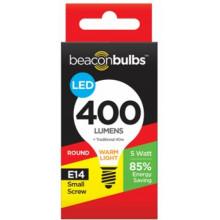 LED Light Bulb Round E14 Screw