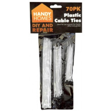 Plastic Cable Assorted Ties 70PK
