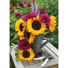 Country Cards 10723 Blank Sunflowers