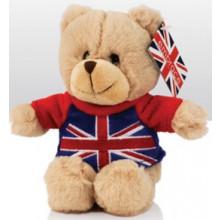 15cm Union Jack T-Shirt Bear Soft Toy