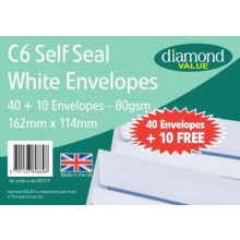 Diamond Value C6 S/S Envs 40+10 Free