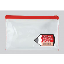 Clear Pencil Case Medium 21x13cm