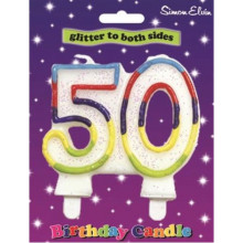 Simon Elvin Age 50 Milestone Candle