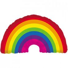 """Rainbow Foil Balloon 36"""" Shape"""