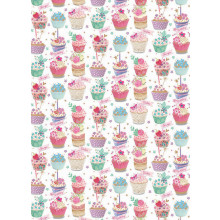 Flat Gift Wrap Cupcakes/Bunting GW2553