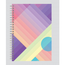 A5 Shades &Shapes Twin Wire Notebook