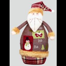 36cm Patchwork Santa/Snowman