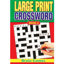 A5 Large Print Crossword Book 160p 4 Ast