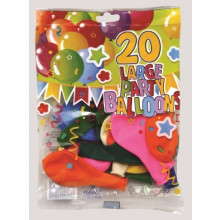 "Balloons Large 10"" Pack 20"