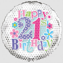 Foil Balloon Age 21 Female