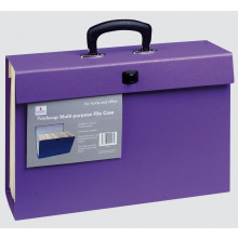 Foolscap Multi Purpose File Case Purple