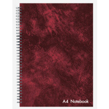 A4 Leather Look Wire Notebook 144 Pages