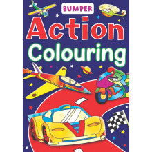 Action Bumper Colouring Book