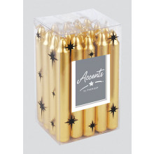 XD05616 Gold/Silver Mini Candle 10cm
