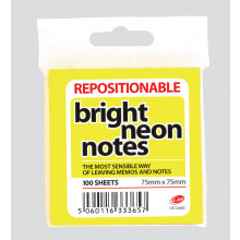 S1401 Club Neon Notes 75x75mm