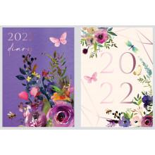 DD00406 Pocket WTV Diary Floral/B/Fly