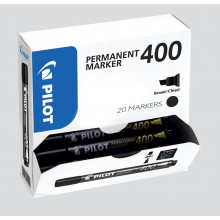 Pilot 400 Marker Broad Wedge Tip Black