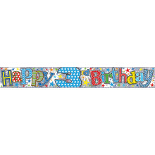 2.5m Party Banner Age 3 Boy