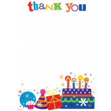 Thank You Pad Birthday Cake 20 sheets