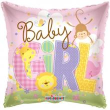Baby Girl Pillow Foil Balloon