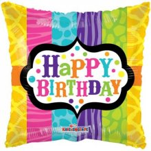 Foil Balloons Happy Birthday Ribbon