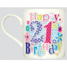Milestone Mug 21st Female