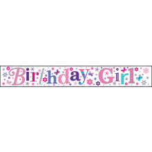2.5m Party Banner Birthday Girl