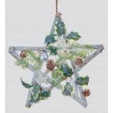 XD04203 Natural Star Green & White Decs