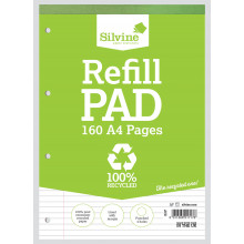 S2508 A4 Recycled Refill Pad 160pg
