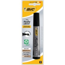 Bic Permanent Markers Chisel Tip Black Carded