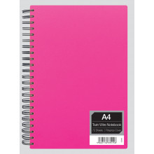 S1701 A4 Neon Polyprop Twinwire Notebook
