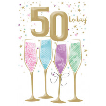Greetings Cards 50th Female