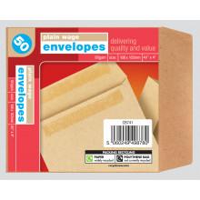 Plain Wage Envelopes 50s 108x102mm