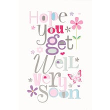 Cards Word Play 20732 Get Well Female
