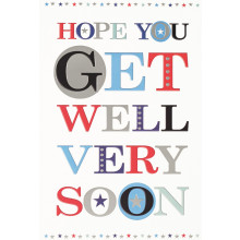 Cards Word Play 20733 Get Well Male